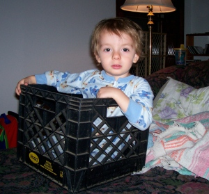 """This is <i>not</i> a crate, this is a <i>boat</i>, okay, Mommy?"""